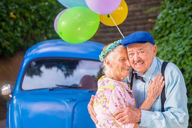 Casal do ES faz ensaio fotográfico para comemorar união de 69 anos