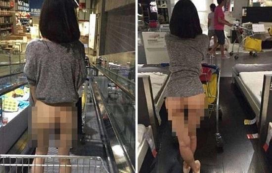Upskirt gostosa fazendo compras - 3 4