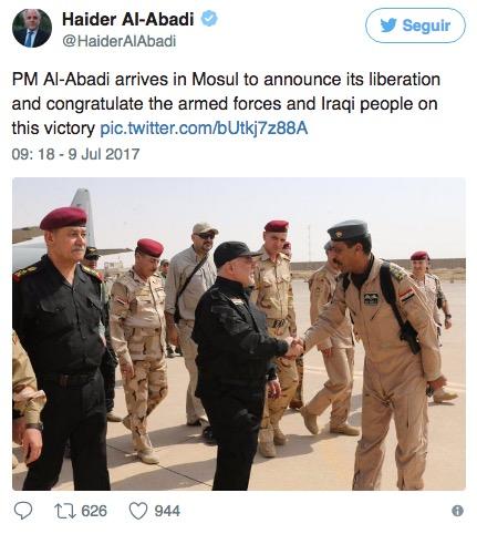 Iraque declara vitória sobre Estado Islâmico em Mosul
