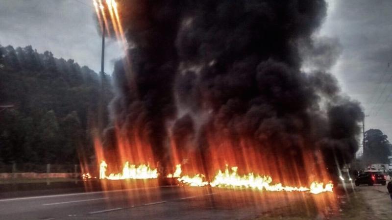 MTST faz várias manifestações em rodovias de SP