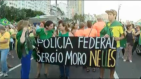 Manifestantes protestam em Goiânia a favor da absolvição do ex-presidente Lula