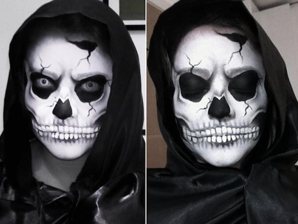 Extremamente Aprenda a fazer maquiagem de caveira para comemorar o Halloween  AD29