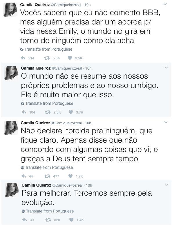 Camila Queiroz Alfineta Emilly O Mundo Não Gira Em Torno De Ninguém