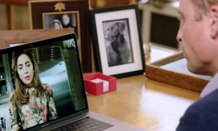 Por que falaram Lady Gaga e o príncipe William em Facetime?