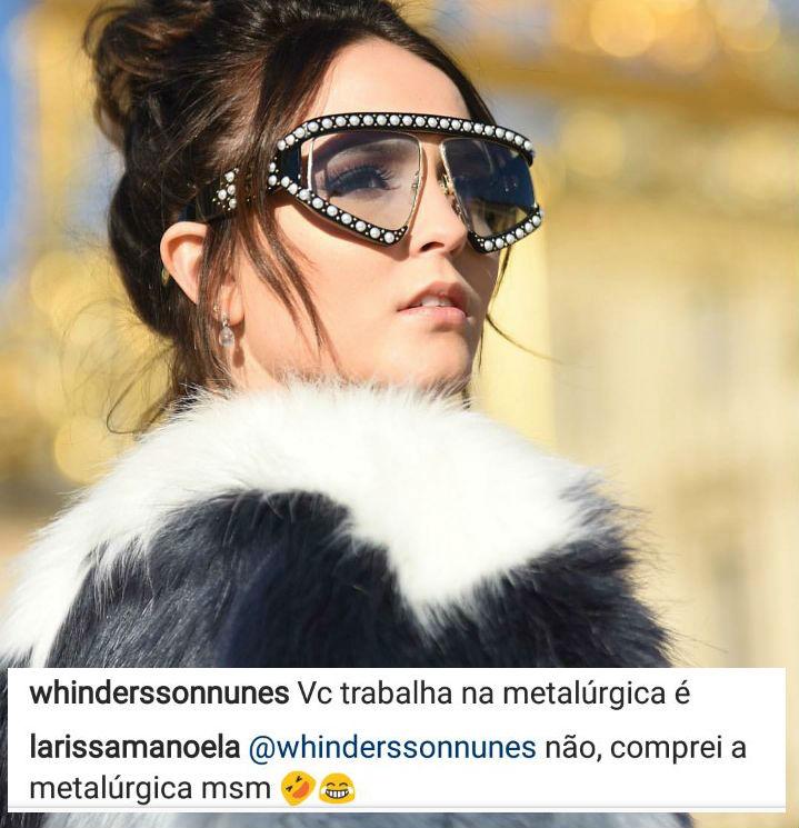 Na Europa, Larissa Manoela brinca sobre riqueza ao responder piada ... 1921991b03