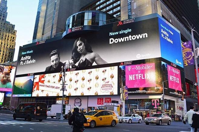 Anitta é a primeira artista brasileira a alcançar o Top 50 Global do Spotify