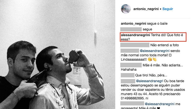 """Alessandra Negrini explica """"bronca"""" no filho pela web: """"ele não atende minhas ligações"""""""