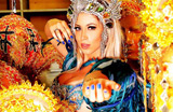 Carol Narizinho posa sexy no barrac�o da Beija-Flor