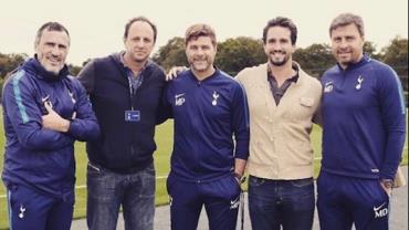 Rogério Ceni retoma estudos na Europa e visita treinador do Tottenham