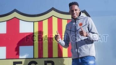 Contratado pelo Barcelona, Mina será o quinto jogador mais alto do Campeonato Espanhol