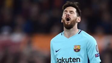 Messi não marcou gols em todas as eliminações em que esteve em campo pelo Barcelona na Liga dos Campeões