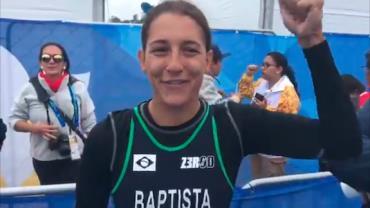 Triatlo feminino dá 1º ouro ao Brasil nos Jogos Pan-Americanos de Lima