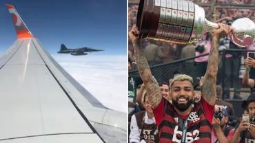 Aviões da FAB escoltam Flamengo na chegada ao Brasil após conquista da Libertadores