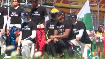 F1 começa com ato contra racismo e punição a Hamilton
