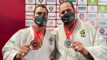 Judô do Brasil fecha Grand Slam de Kazan com 2 pratas e 2 bronzes