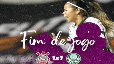 Corinthians e Palmeiras empatam e seguem no topo do futebol feminino