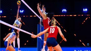 Liga das Nações: seleção feminina de vôlei perde para Estados Unidos