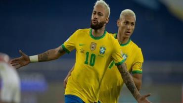 Brasil goleia seleção peruana e segue 100% na Copa América
