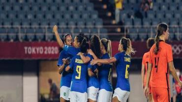 Em jogo de seis gols, Brasil e Holanda empatam no futebol feminino