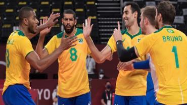 Em virada histórica, Brasil vence Argentina no vôlei masculino