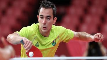 Tóquio: Calderano é eliminado nas quartas de final do tênis de mesa