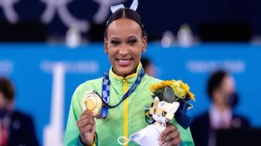 Rebeca Andrade conquista ouro no salto da ginástica artística