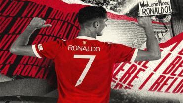 Cristiano Ronaldo é o novo dono da Camisa 7 no  Manchester United