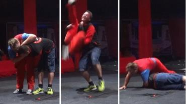 Homem quase fica paraplégico após truque de palhaço dar errado