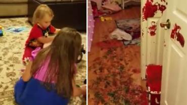Crianças fazem bagunça épica no quarto em apenas 7 minutos