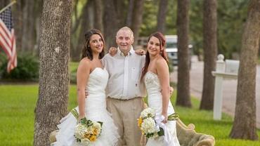 Irmãs fazem ensaio de casamento especial para o pai com Alzheimer