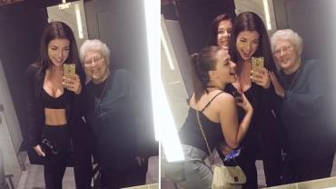 Jovens fazem selfies com idosa desconhecida e viralizam