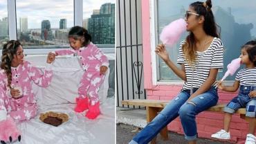 Mãe e filha com roupas combinando fazem sucesso na internet