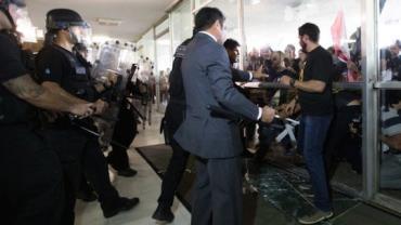 Policiais invadem o Congresso Nacional em ato contra Reforma da Previdência