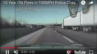 Garoto de 10 anos pega carro da família e dá início a perseguição policial a 160 km/h