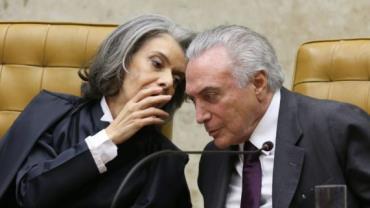 Temer e Cármen Lúcia discutem segurança pública e intervenção no Rio