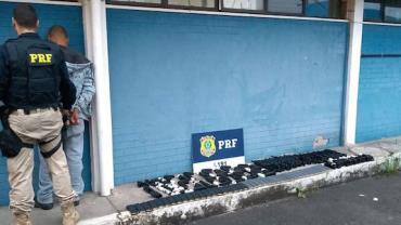 PRF apreende 20 fuzis destinados à quadrilha do Complexo da Maré