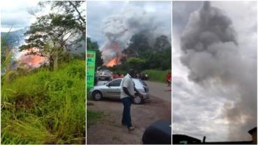 Explosão em fábrica de fogos de artifício deixa um ferido em Belo Horizonte