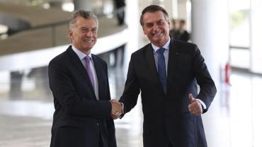 Bolsonaro diz a Macri que confia na modernização do Mercosul