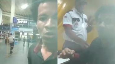 Jovem grava momento em que é agredido por funcionários em rodoviária na Bahia