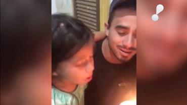 Pai faz surpresa de aniversário para filha e vídeo viraliza nas redes sociais