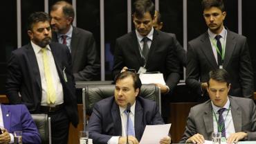 Bolsonaro elogia liderança de Maia na votação da Previdência