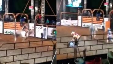 Peão morre após ser pisoteado por touro em rodeio em Costa Marques (RO); vídeo