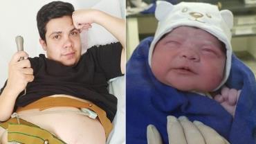 """Homem trans dá à luz menina em SP; mãe se emociona: """"Perfeita e saudável"""""""