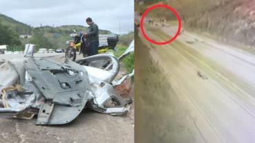Vídeo mostra acidente que deixou três mortos na Rodovia Castello Branco, em SP