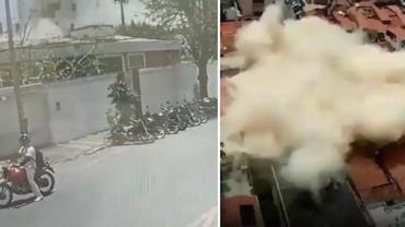 Vídeo de câmera de segurança mostra momento de queda de prédio em Fortaleza