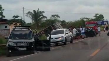 Acidente com caminhão desgovernado deixa vários feridos na BR-316, no Pará