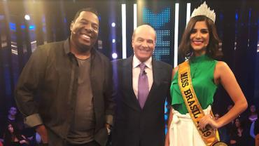 Miss Brasil Júlia Horta e Netinho de Paula participam do Mega Senha deste sábado (7)