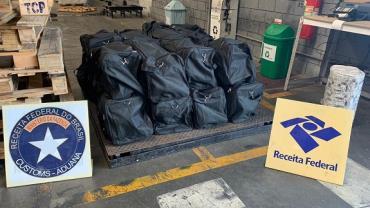 454 kg de cocaína são apreendidas pela Receita Federal no PR