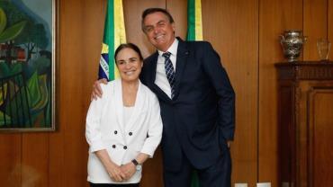 Bolsonaro: Nomeação de Regina Duarte deve ocorrer após viagem à Índia