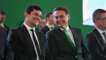 Bolsonaro descarta divisão de ministério comandado por Moro